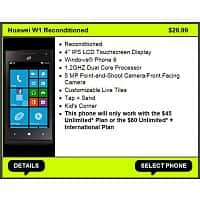 Straight Talk Deal: Straight Talk Windows 8 Phone $30 + Free Overnight Shipping