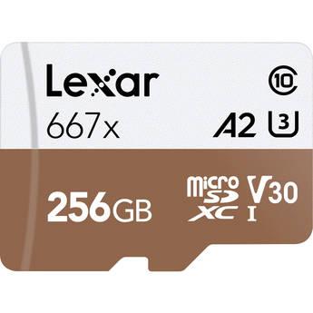 Lexar 256GB Professional 667x microSDXC Memory Card with SD Adapter $38