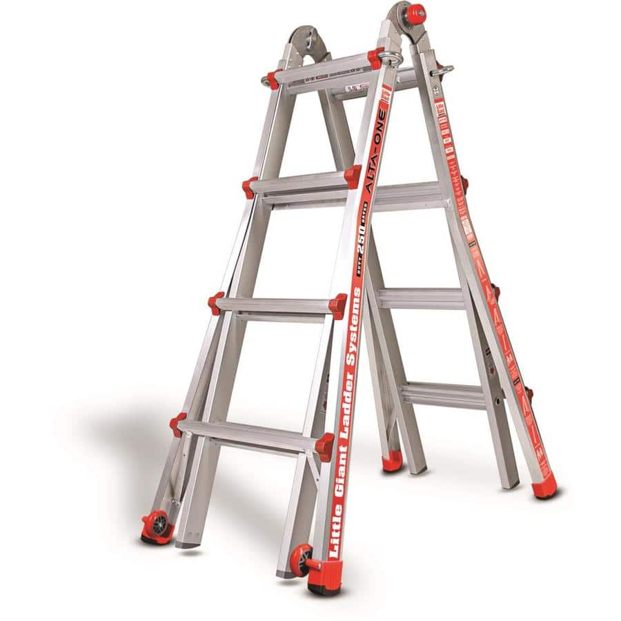 Little Giant Ladder Systems LT 17 ft. Aluminum Multi-Position Ladder with 250 lbs. Capacity Type I $130 free shipping only at Lowes