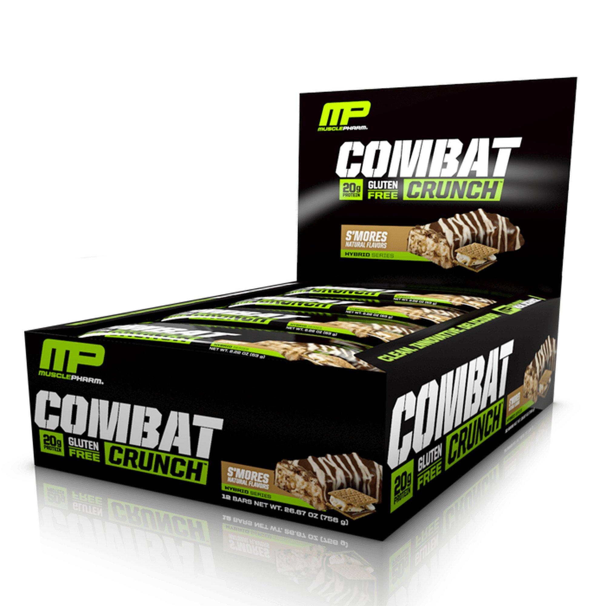 MusclePharm Combat Crunch Bars 12pk $11.03 or less