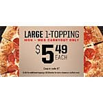 Pizza Hut Large Pizza 1 topping - $5.49