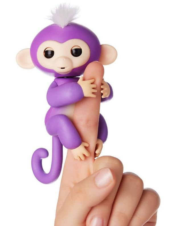 Fingerlings - Interactive Baby Monkey - Mia (Purple with White Hair) By WowWee $17.99
