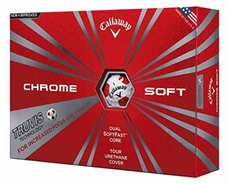 Callaway Chrome Soft 2017 Golf Balls (One Dozen) $30 @ Amazon