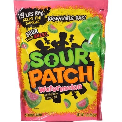 Sour Patch Bags Soft & Chewy Sour Watermelon Candy (30.4 Oz/1.9 lbs) - $4.54 or less with S&S