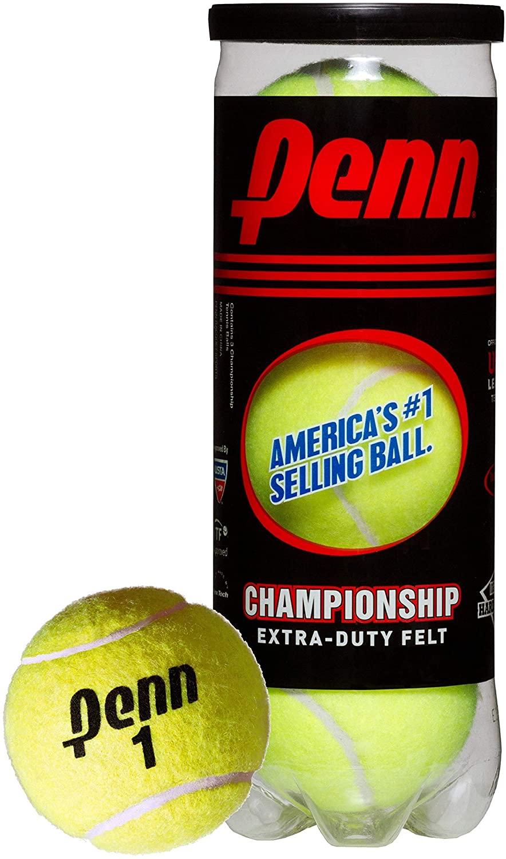 Penn Championship Pressurized Tennis Balls (1 can, 3 Count) $2.29
