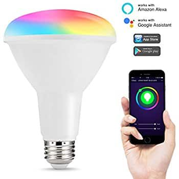 Smart LED BR30 Flood Light Bulb, 75-80W Equivalent (10w), Wi-Fi Enabled & Works with Alexa - $16.79 AC F/S wtih Prime