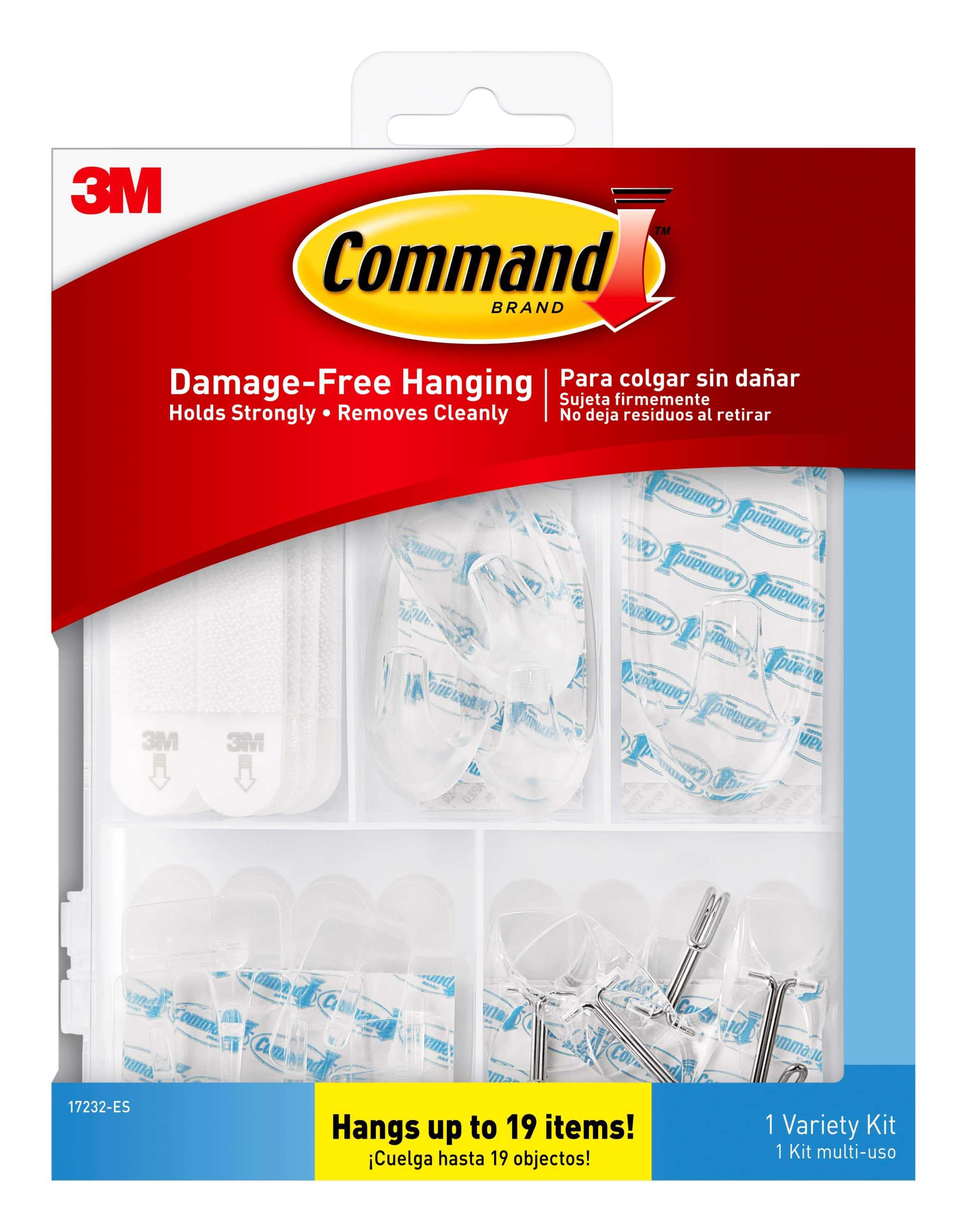 Command Clear Variety Kit, 53 pieces, Hangs up to 15 items at Walmart B&M YMMV $5