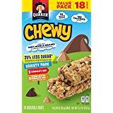 Amazon:  S&S Quaker Chewy Granola Bars, 25% Less Sugar, Chocolate Chip, 8 - 0.84 OZ Bars Per Box (Pack of 6) $7.72