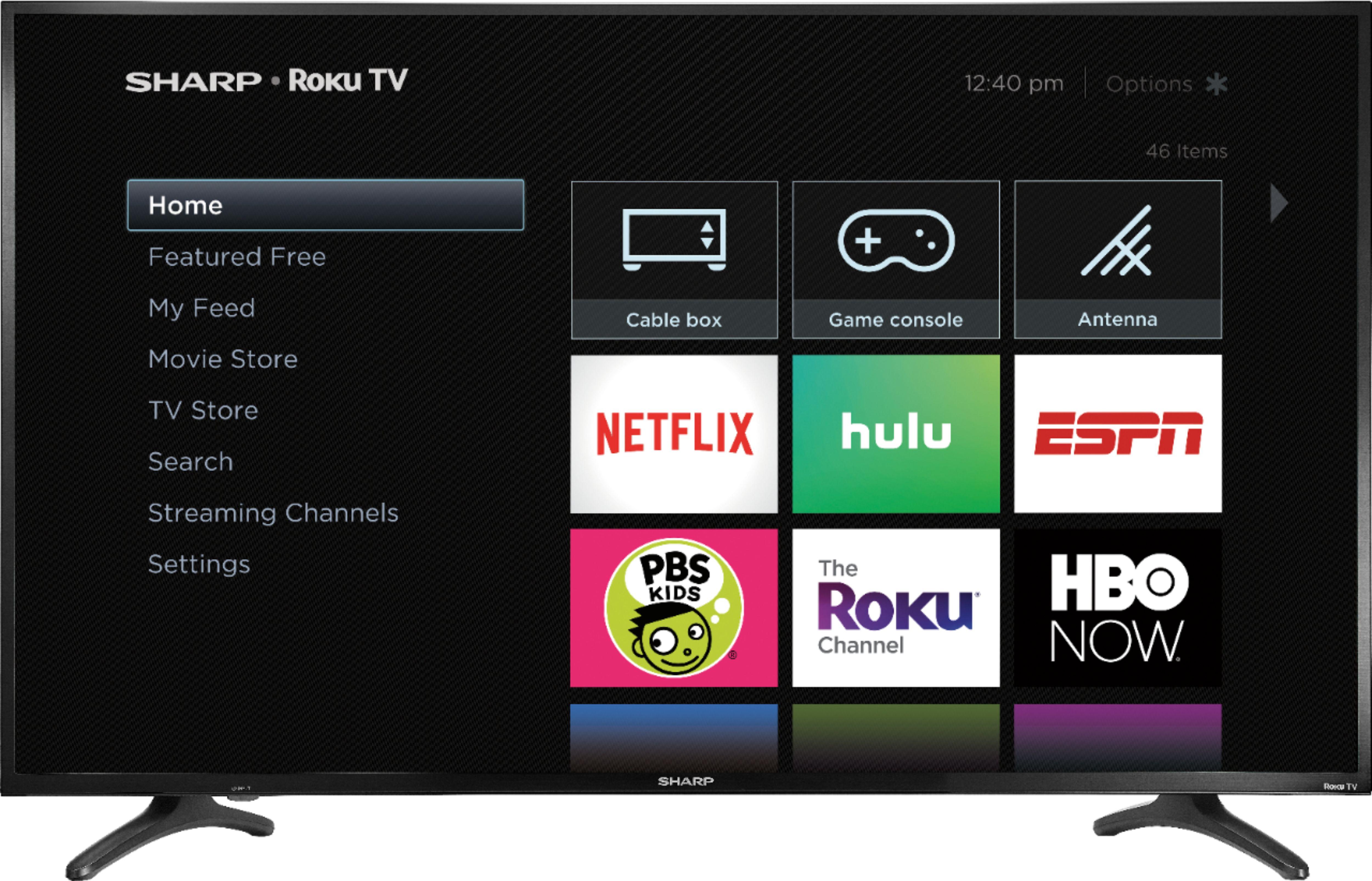 "Sharp - 50"" Class - LED - 2160p - Smart - 4K UHD TV with HDR - Roku TV $239.99"