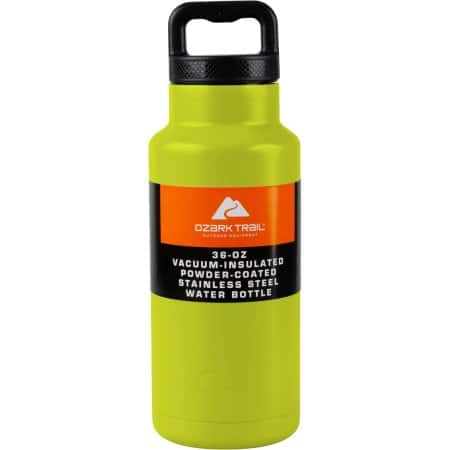 Ozark Trail Double Wall Stainless Steel Water Bottle - 36oz  Various colors from $5-6 with free instore pickup at Walmart