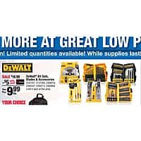 Ace Hardware Deal: $9.99  Dewalt Reciprocating Saw blades, bit sets, Saw Blade each  with Ace Rewards Card Ace Hardware Labor Day Sale 9/4/15-9/7/15 IN-STORE