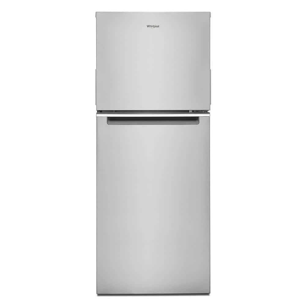 24 in. 11.6 cu. ft. Top Freezer Refrigerator Stainless Finish $97 YMMV