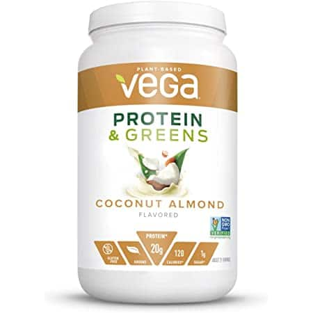 Vega Protein and Greens, Plant Based Protein Powder Plus Veggies n Protein Powder, Keto-Friendly, Vegetarian, Soy Free, Dairy Free, Lactose Free, Coconut Almond, 18.3 Oz $13.94