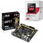 AMD Athlon 5350 (new AM1 socket) + Asus AM1I-A Mini ITX Motherboard = $89 AR ($10) @ Fry's