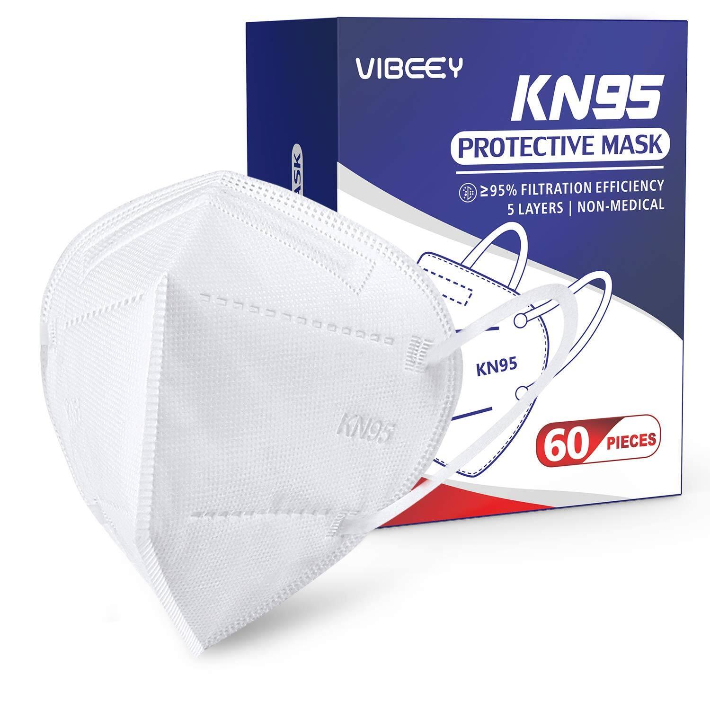 60 PCS Vibeey Individually Wrapped KN95 Face Mask - $13.24 + Free S/H