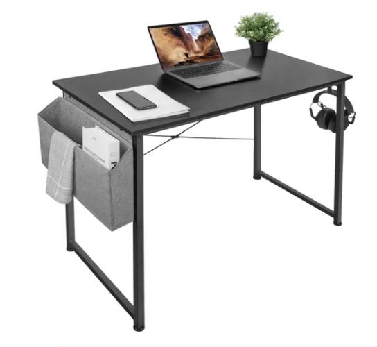 39'' Writing Desk w/ Storage & Hook $26 + Free Shipping