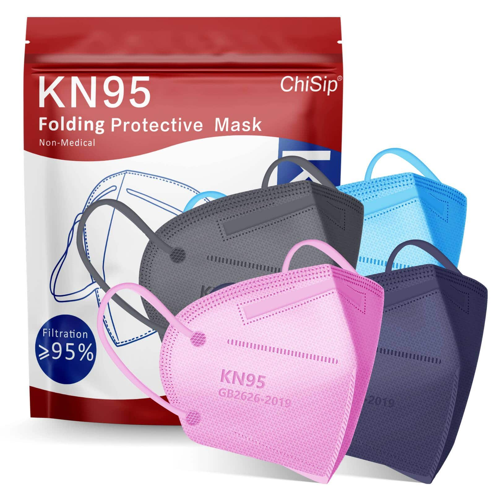 20-Pack Mix-Color KN95 Face Masks 5 Layer Design Cup Dust Safety Masks Up to 69%OFF Only $8.05