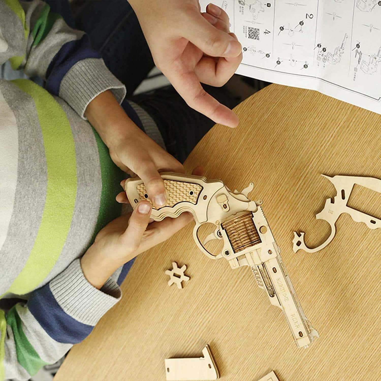 ROBOTIME 3D Wooden Rubber Band Gun Model DIY Craft Kits (Various Styles) for $10.79 + FSSS