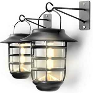 Home Zone 2-Pack Outdoor Decorative Glass Solar Wall Lantern - $23.99 + Free Shipping