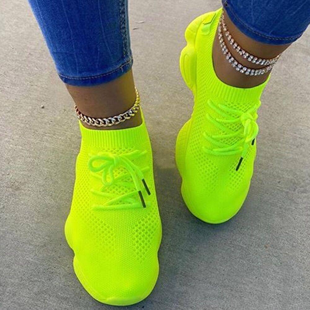 "Tiosebon ""Puffy"" Neon Women's Sneaker for $19.99 + $5 Shipping"