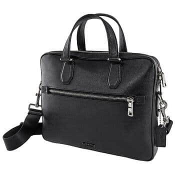COACH Men's Kennedy Briefcase in Black for $219.98 + FREE SHIPPING