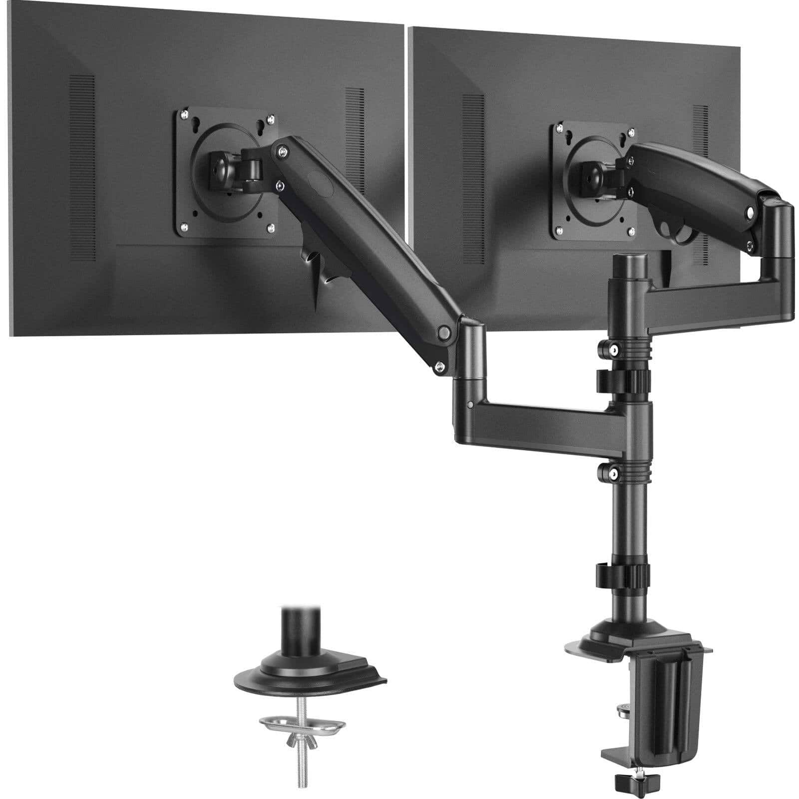 Huanuo Height Adjustable Dual Monitor Stand with Gas Spring Arm Fits for 22-32 inch $39.89