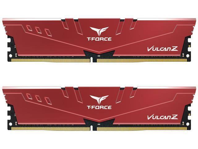 Team T-FORCE VULCAN Z 32GB (2 x 16GB) [288-Pin 16-20-20-40 DDR4 3200] Desktop RAM (Red) $129.99 + FS