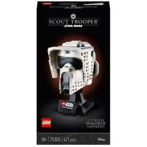 10% OFF LEGO BUSTS: LEGO Star Wars: Scout Trooper Helmet Set for Adults (75305) $44.99 + $4.99 Shipping
