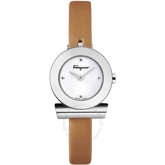 Ferragamo Watches on Sale - SALVATORE FERRAGAMO Quartz Silver Dial Ladies Watch F43010017 for $299.89 + FS