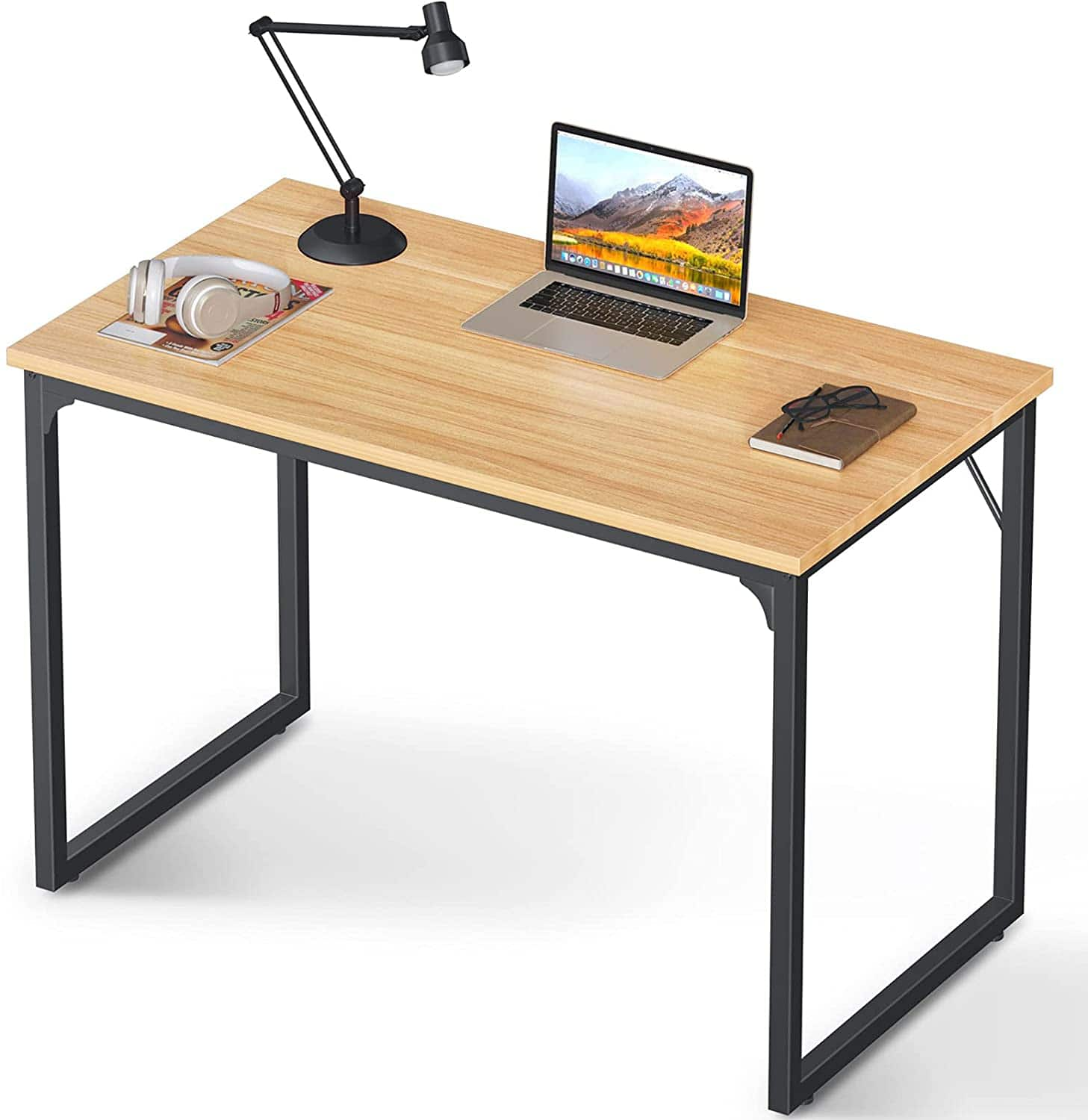 """Coleshome Desk 39"""" Walnut for $29.63,55"""" Walnut for $47.99 + Free Shipping"""