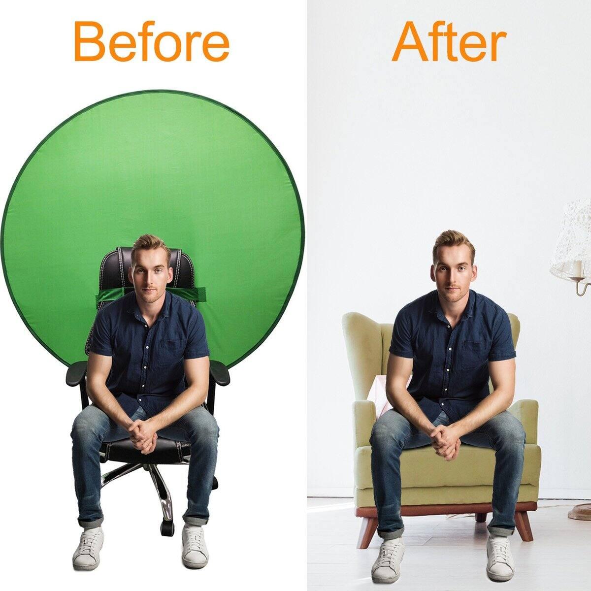 Slashare Green Screen Backdrops  (Foldable Reflector 75 CM) for $10.99 + Free Shipping