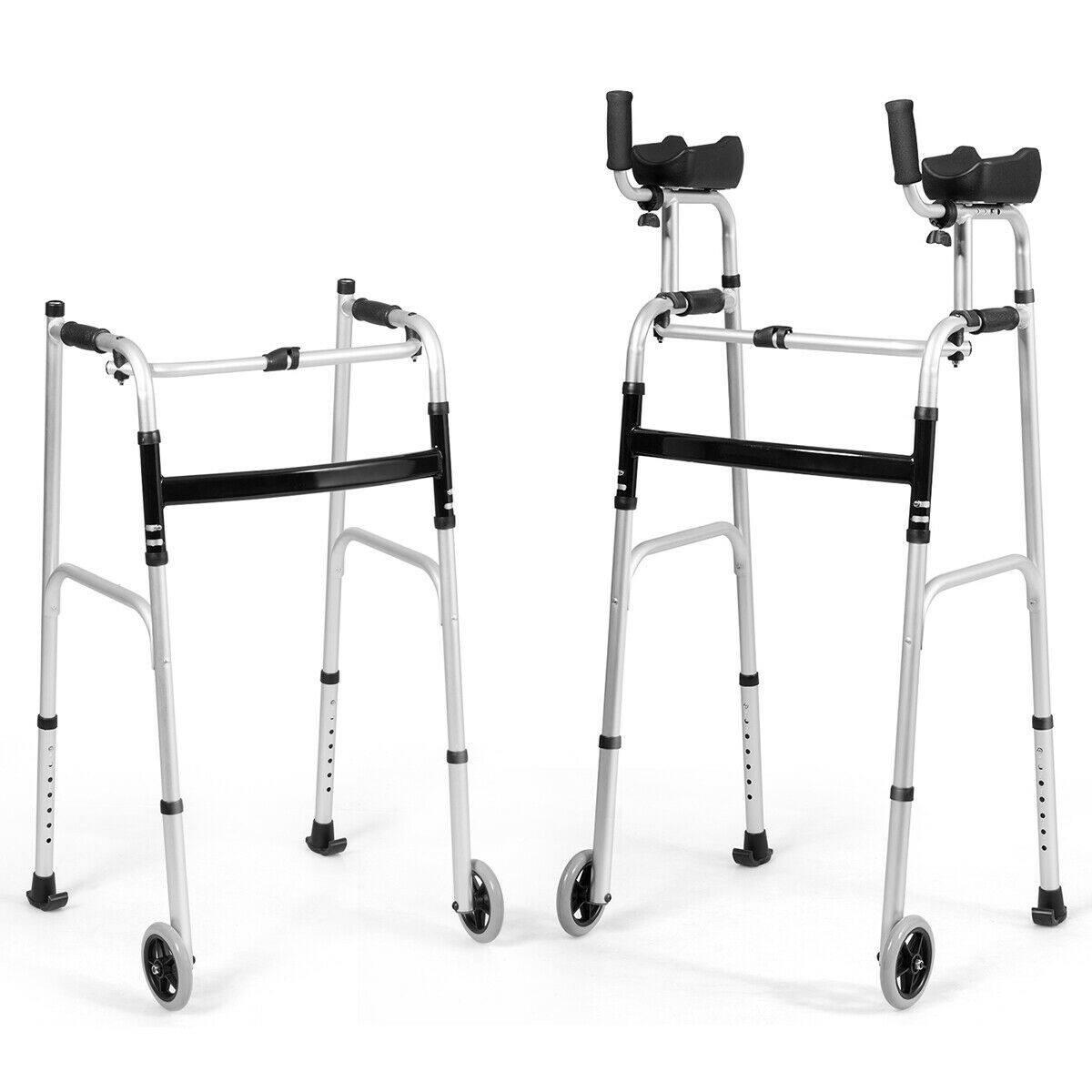 Costway Foldable Adjustable Aluminum Standing Walker for $79.95 + FS