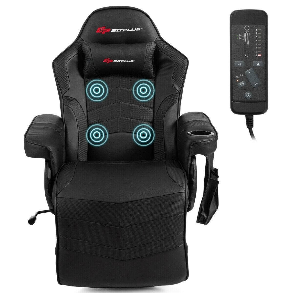 Costway Ergonomic High Back Massage Gaming Chair with Pillow for $269.95 + FS