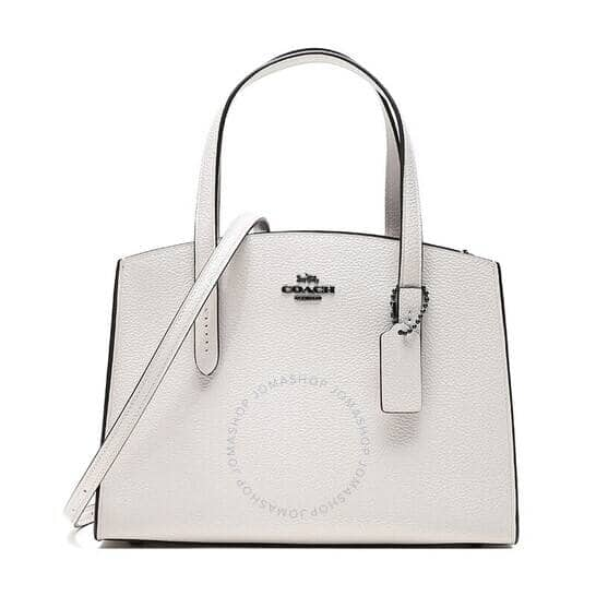 Coach 48 Hours Flash Sale - Take Extra 30% Off: COACH Ladies Charlie Carryall 28 Handbag In White Leather for $129.99 Shipped