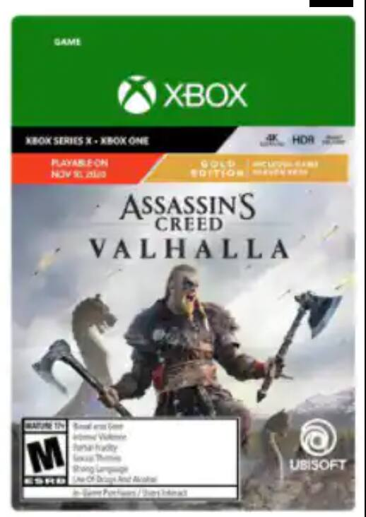 Xbox One/Series X|S Digital: Assassin's Creed Valhalla Gold Edition $49.99, Call of Duty: Black Ops Cold War Standard Edition $ 29.99, For Honor $4.49 and More