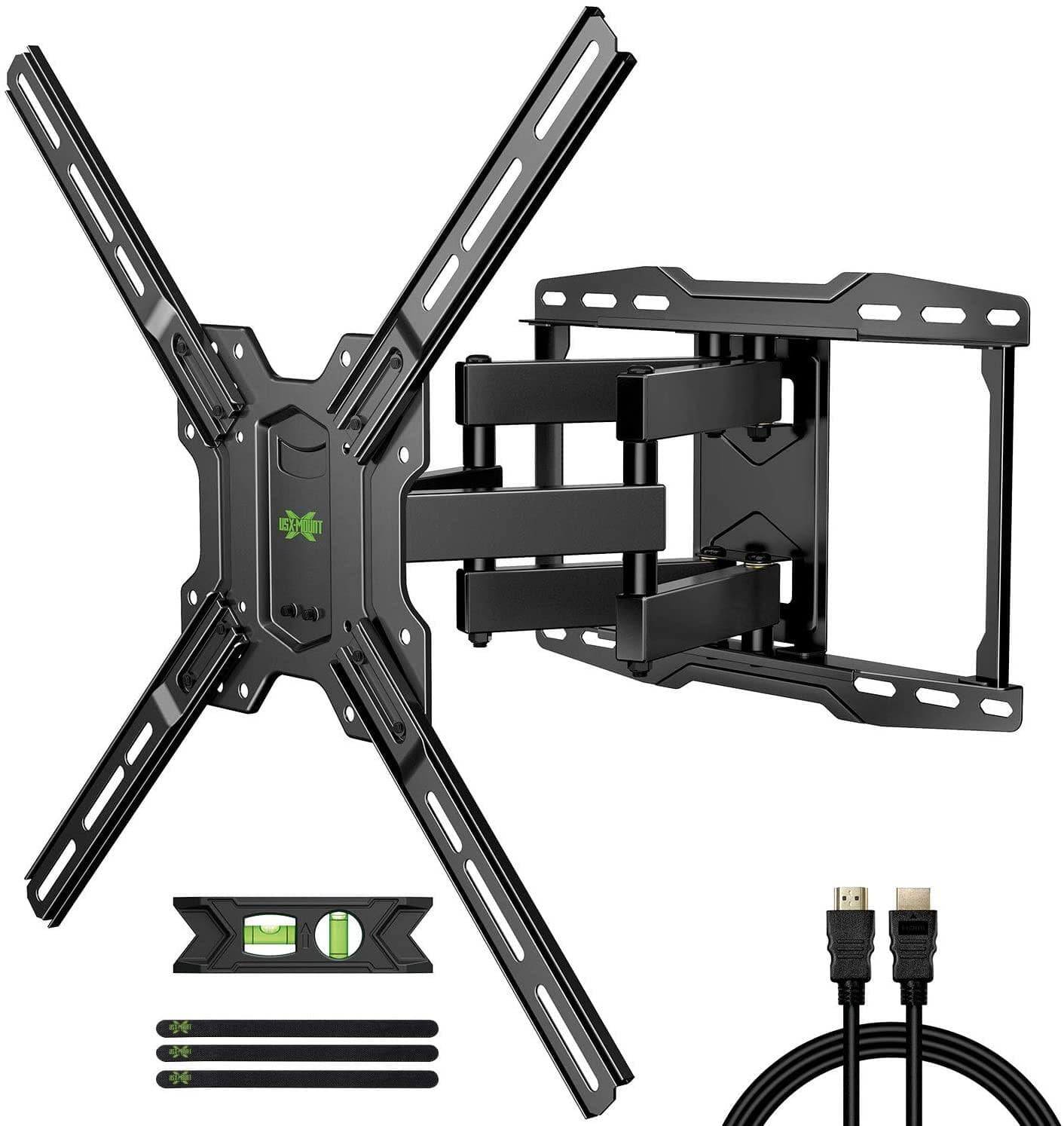 """USX MOUNT Full Motion TV Wall Mount (for 42-75"""" TVs Max VESA 600x400mm) for $19.49 + Shipping is Free"""
