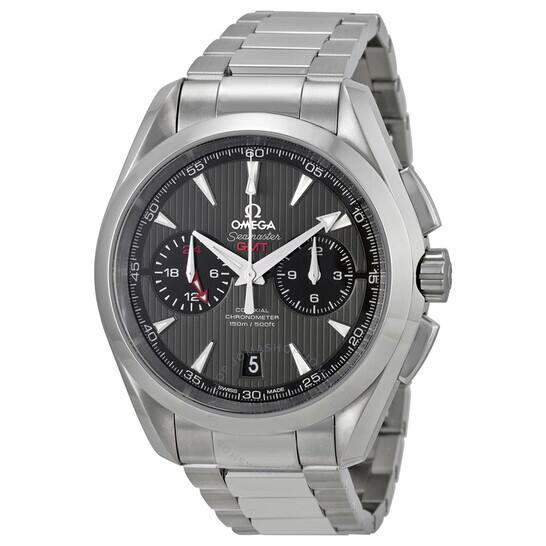 OMEGA Seamaster Aqua Terra Chronograph GMT Automatic Chronometer Grey Dial Men's Watch for $4275 + FS