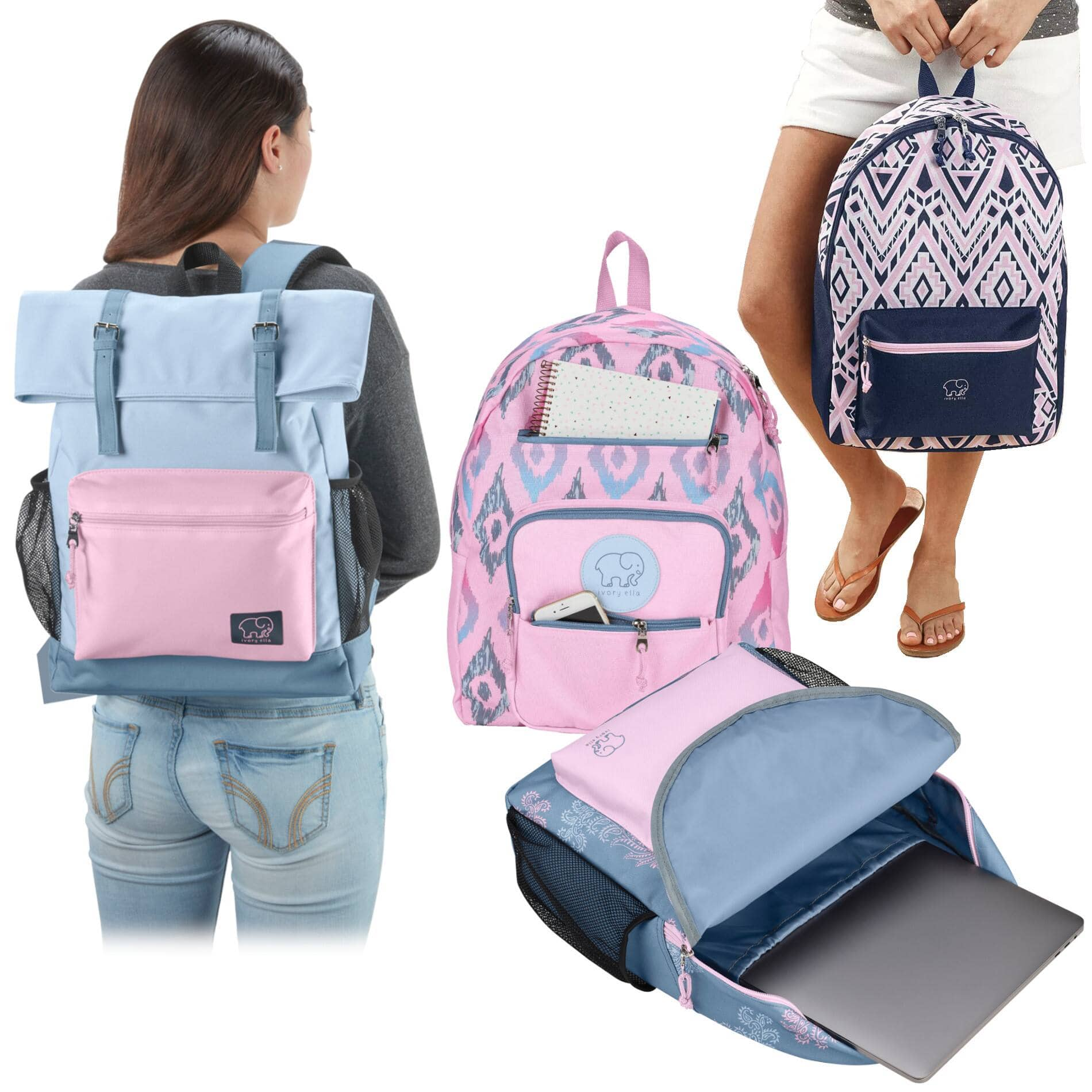 2-Pack: Conair by Ivory Ella Laptop Backpacks - $15 Shipped ($7.50/ea)