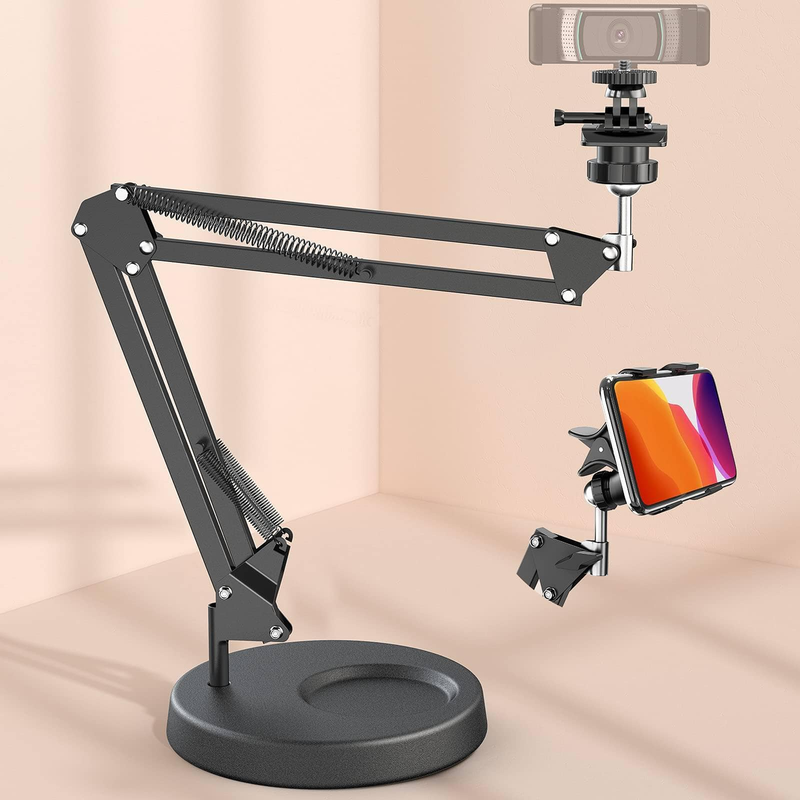 Amada Adjustable Webcam Stand with Phone Holder for $10.85 + Free Shipping w/ Prime or orders $25+