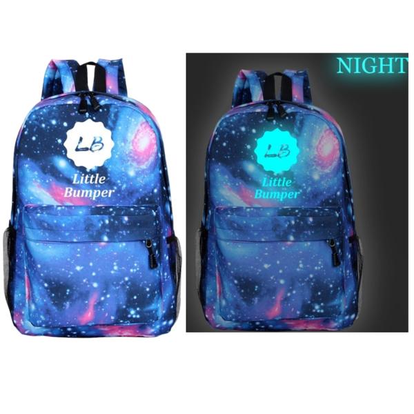 Little Bumper Glow in the Dark Galaxy Lightweight Kids Backpack $15 + Free Shipping
