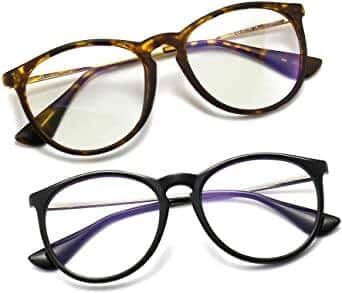 Sungait Vintage Round Blue Light Blocking Glasses 1 pair for $8.5 or 2 pairs for $11 + Free shipping w/ Prime or $25+