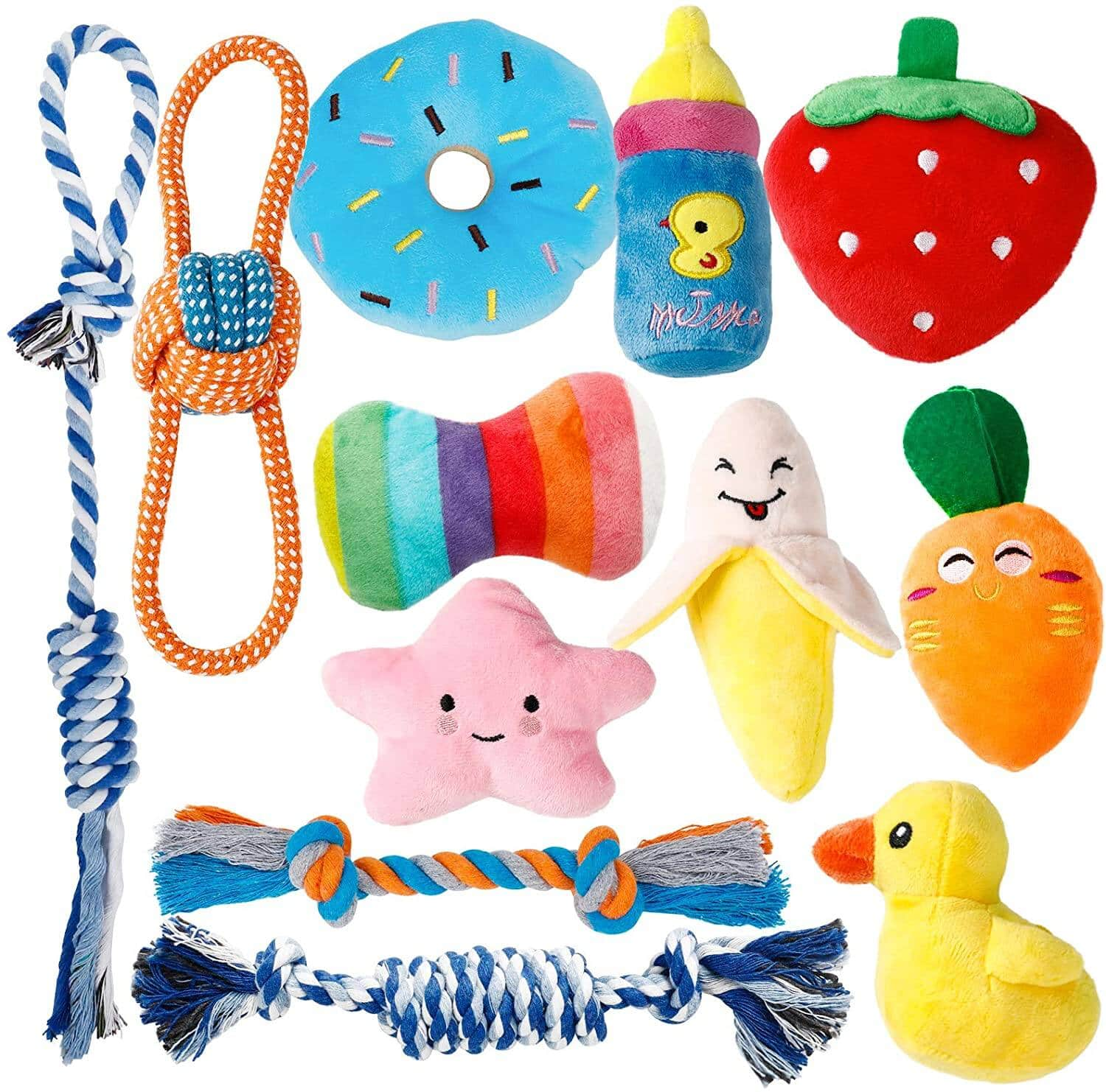 12 Pack Toozey Puppy Toys $8.99 + Shipping is free with Prime or on orders $25+.