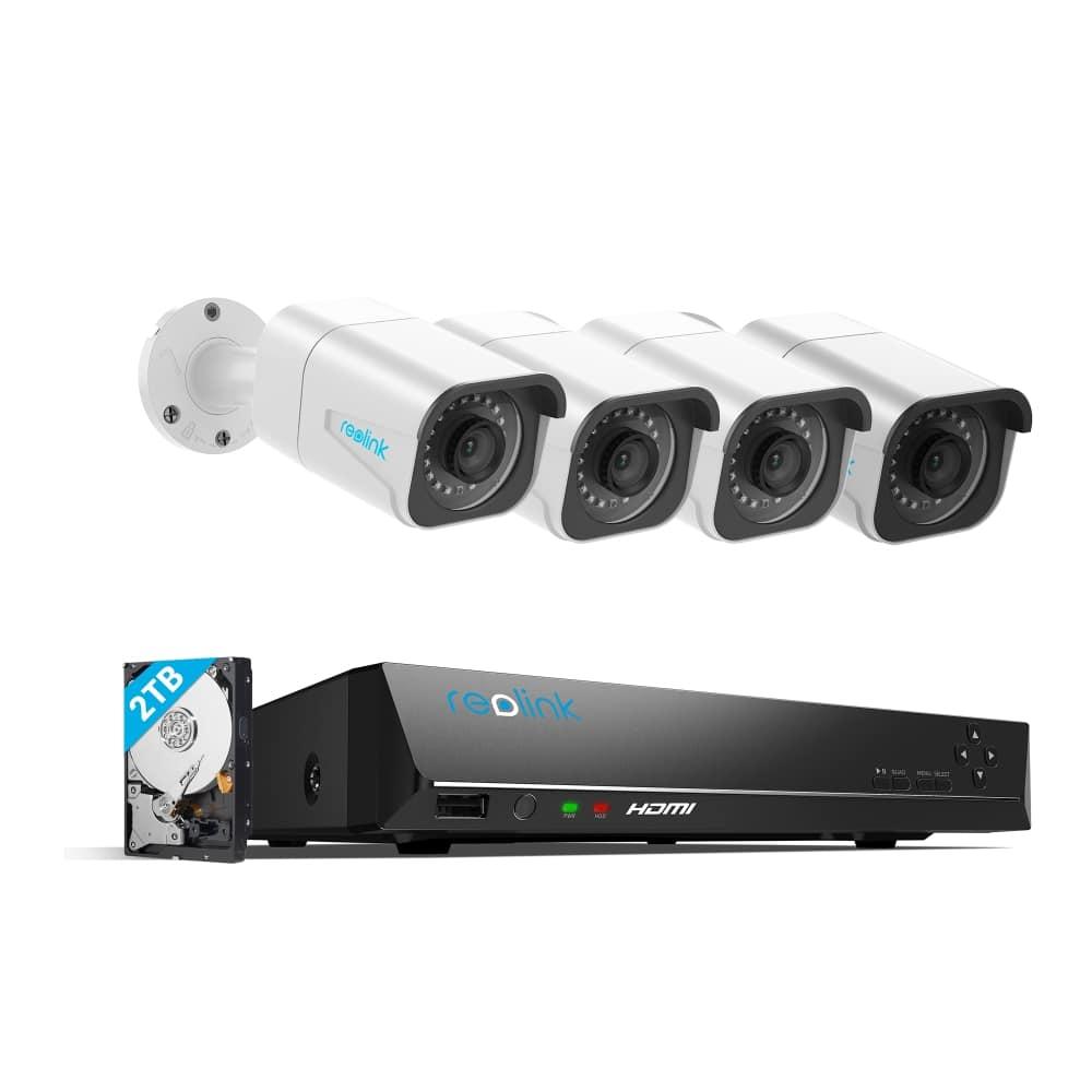 Reolink RLK8-800B4 4K Ultra HD 8CH POE Security Camera System (4 x 4K PoE IP Cameras + 8CH NVR+ + 2TB HDD) $360.99 + FS
