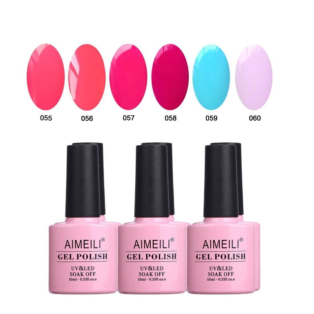 AIMEILI Gel Nail Polish Color Set Of 6pcs X 10ml - Kit 12 for - $10 + Free Shipping w/ Amazon Prime or Orders $25