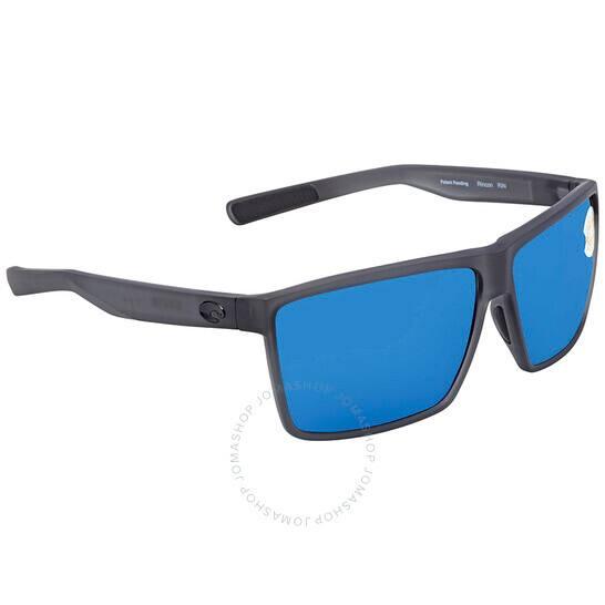 COSTA DEL MAR Rincon Blue Mirror 580P Rectangular X-Large Sunglasses RIN 156 OBMP $79.20