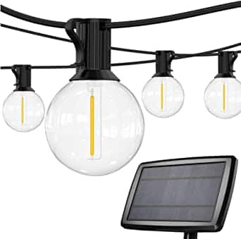 Sunthin G40 Solar Powered Patio String Lights 27ft/48ft/97ft - $16.99 - $39.99 + Free Shipping w/ Prime or orders $25+