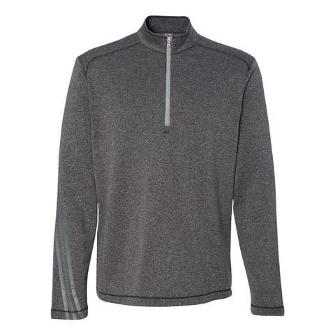 Adidas Men's Brushed Terry Heather 1/4 Zip Jacket for $23