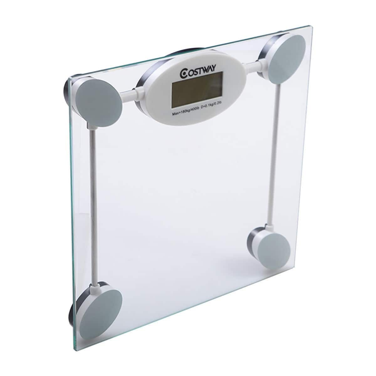 Costway 396 lb Personal Glass Digital Weight Scale $7.95 + Free Shipping