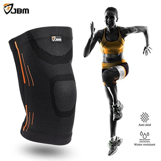 JBM Knee Compression Sleeve Support (Various Sizes/Colors) - $3.95 Free shipping Amazon Prime
