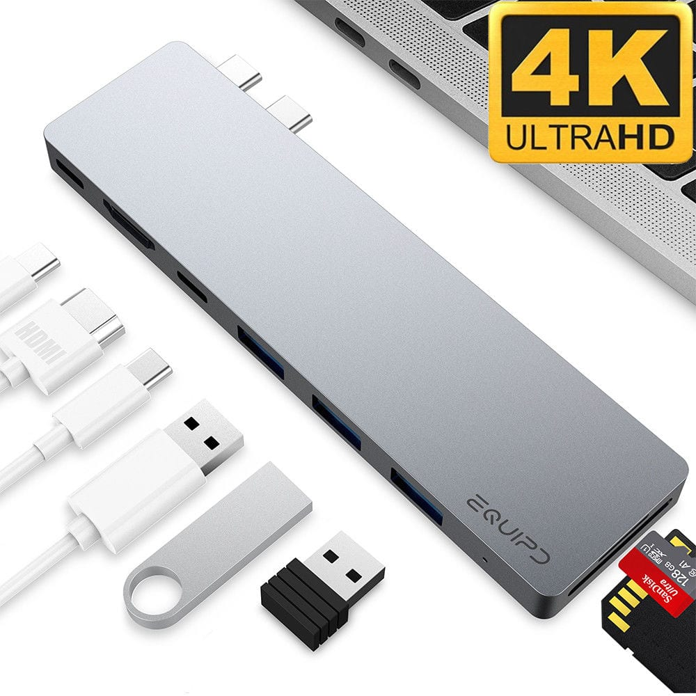 """EQUIPD Aluminum  Type C Hub w/ 4K HDMI, Thunderbolt 3 for MacBook Pro 13"""", 15"""" Starting from $24.99 + FS"""